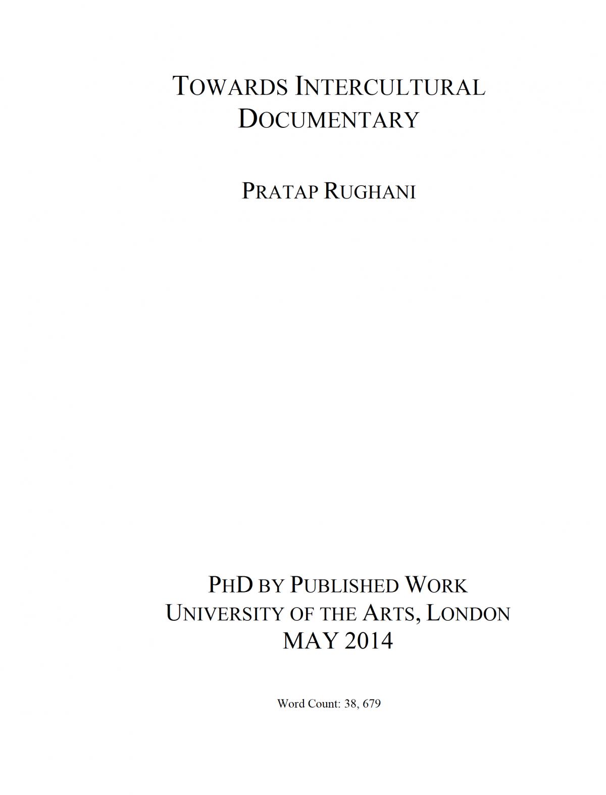 PhD Pratap Rughani 2014