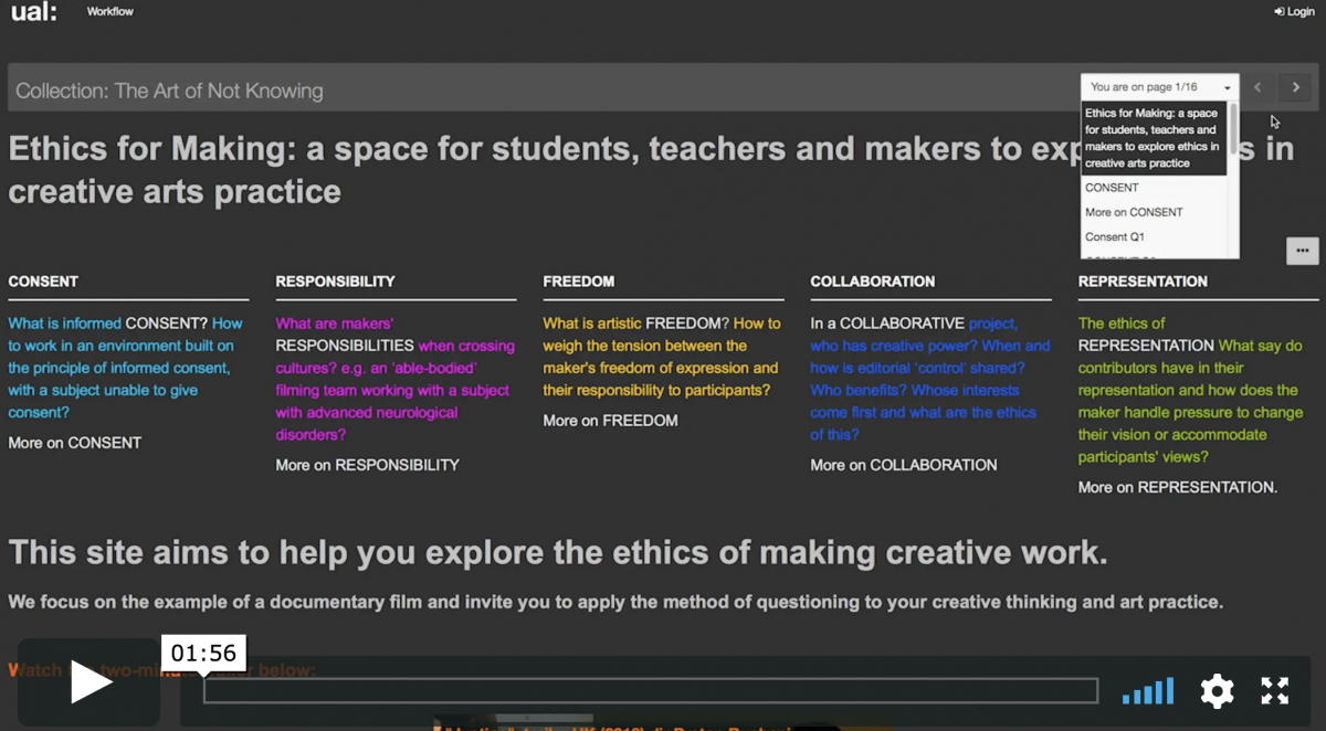 Ethics for Making: a space for students, teachers and makers to explore ethics in creative arts practice