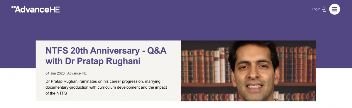 NTFA 20th Anniversary interview with Pratap Rughani 4 June 2020